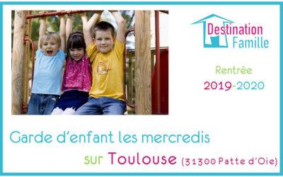 Offre d'emploi Garde d'enfant les mercredis sur Toulouse Patte d'Oie