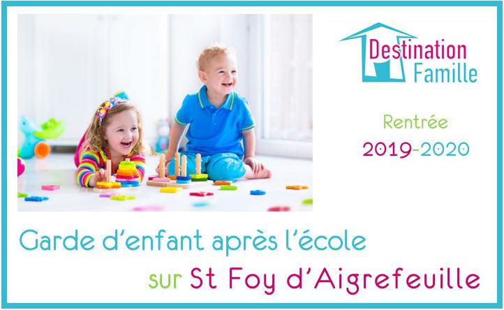 Offre d'emploi Garde d'enfant en sortie d'école sur Ste-Foy-d'Aigrefeuille
