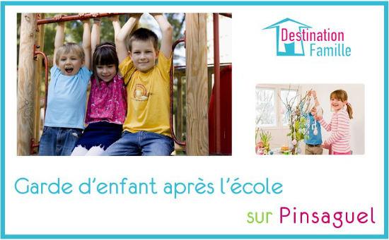 Cette image propose une offre d'emploi de garde d'enfant en sortie d'école sur Pinsaguel 31120