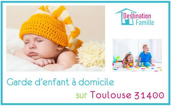 Cette image propose une offre d'emploi de garde d'enfant à domicile sur Toulouse 31400 secteur Montaudran