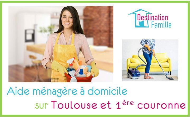 Cette image propose une offre d'emploi d'aide ménagère à domicile sur Toulouse