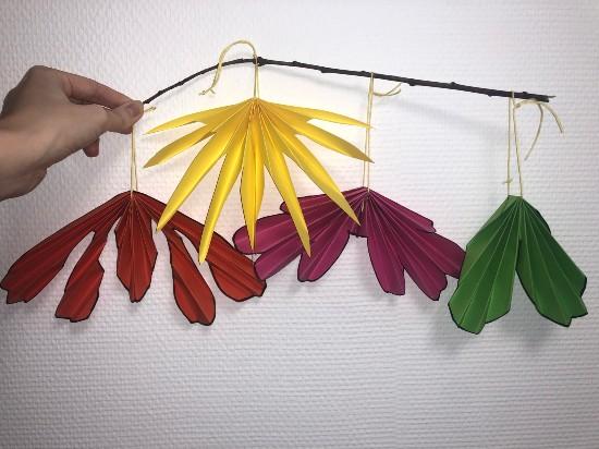 Réalise de jolies feuilles d'automne en origami